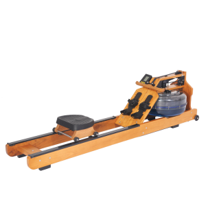 Wooden water rowing machine for fitness equipment