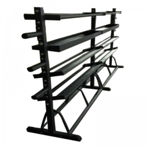 China double tier cylinder vertical 10 pairs dumbbell rack dumbbell storage rack factory