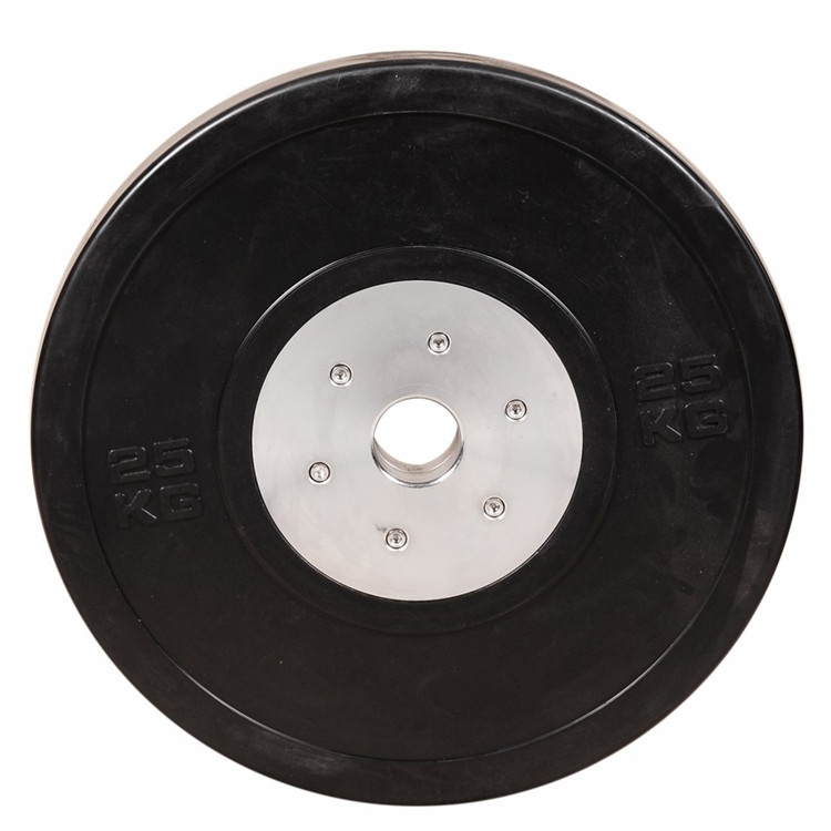 Black Rubber Competition Bumper Plates Cross Fitness