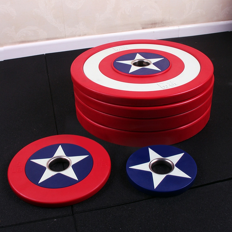 China Pu American Captain Bumper Weight Plates Supplier