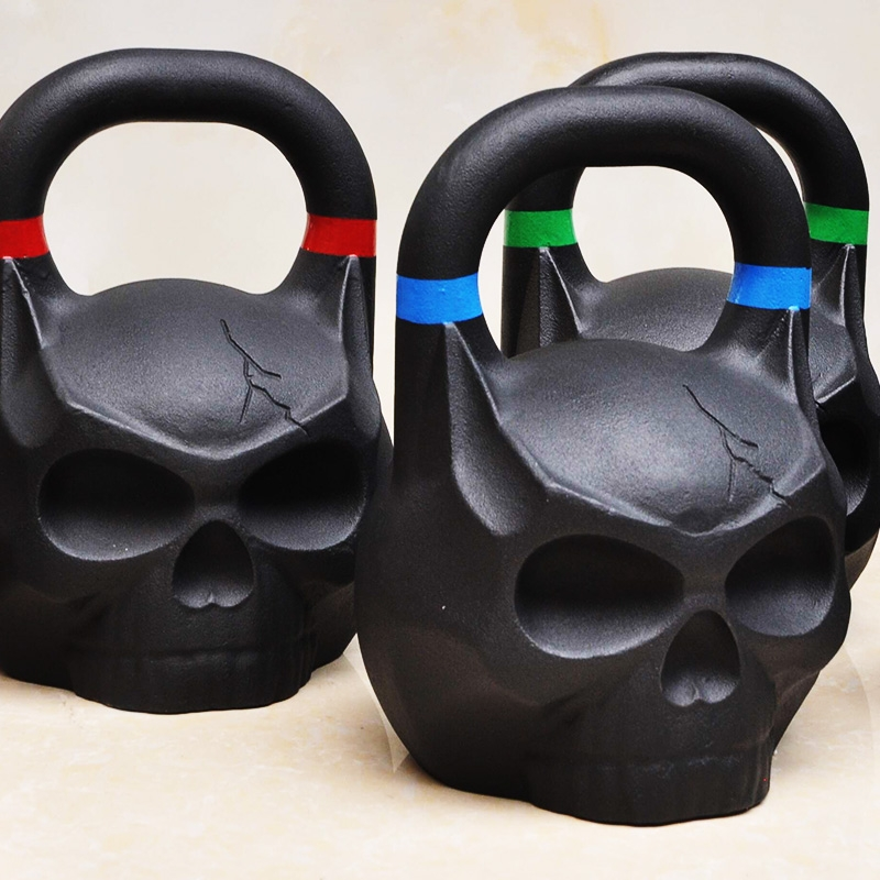 China Wholesale Black Cast Iron Crossfit Skull Kettlebell